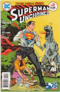 Superman Unchained 2 1:50 Bronze Age Variant