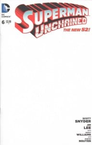 superman unchained 6 blank