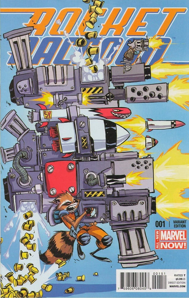 Rocket Raccoon #1 Skottie Young Variant