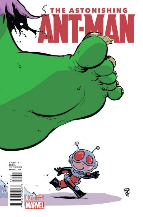 Astonishing Ant Man 1 Skottie Young Variant Comic Hero University