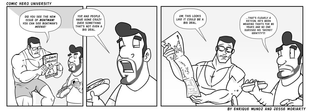 COMIC HERO FUNNIES #144 - Comic Hero University